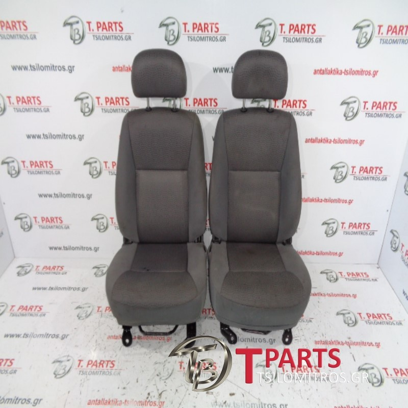 Καθίσματα/Σαλόνι Isuzu-D-Max-(2007-2012) 8Dh  Γκρι Ασημί
